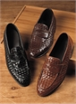 Nettleton Long Vamp Woven Loafer in Black, Size 42 (US 9)