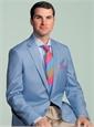 Silk Block Stripe Tie in Fuchsia, Sky and Sage