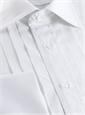 White Pleated Tuxedo Shirt