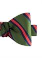 Mogador Silk Stripe Bow Tie in Leaf and Chilli