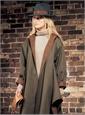 Ladies Wide-Brim Fur Felt Fedora in Graphite