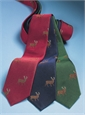 Silk Woven Elk Motif Tie in Forest