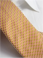 Silk Basketweave Tie in Red and Sun