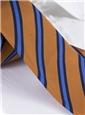 Mogador Woven Stripe Tie in Copper and Cornflower