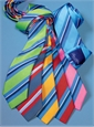Silk Woven Multi-Stripe Tie in Fire