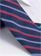 Silk and Wool Multi-stripe Tie in Navy