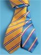 Silk Woven Striped Tie in Marigold