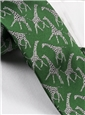 Silk Woven Giraffe Motif Tie in Kelly