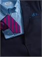 Mogador Woven Stripe Tie in Leaf and Chili