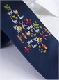 12 Days of Christmas Tie in Navy