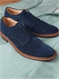 The Alden Plain Toe Blucher in Navy Suede