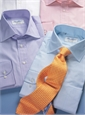 Silk Print Droplet Paisley Tie in Marigold