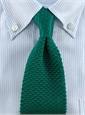 Classic Silk Knit Tie in Green