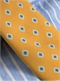 Silk Print Diamond Tie in Honey
