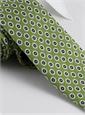 Silk Print Flower Motif Tie in Lime