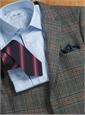 Mogador Silk Stripe Tie in Forest