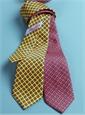 Silk Diamond Printed Tie in Coral