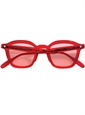 Bold Semi-Round Sunglasses in Red Crystal