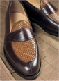 The Savannah Loafer in Brown Leather with Woven Upper
