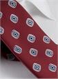 Silk Print Spiral Tie in Cranberry