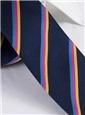 Woven Triple Stripe Tie in Navy