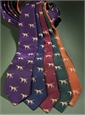 Silk Woven Tie with a Pointer Motif in Purple