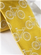 Silk Woven Bike Motif Tie in Sun