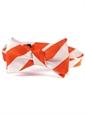 Orange and White Block Stripe Tie