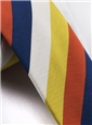 Mogador Stripe Tie in Gold and Tangerine