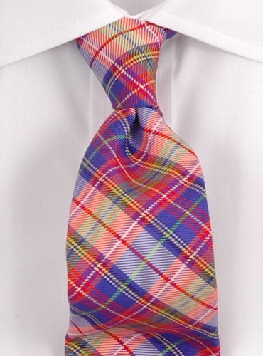 green plaid tie. Woven Plaid Tie Purple,