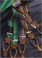 Navy & Kelly Green Striped Braces