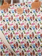 Tropical Birds Printed Overnight Bag