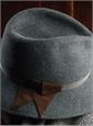 Felt Fedora Hat in Graphite