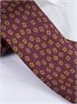 Silk Square Motif Tie in Wine