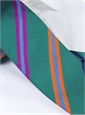 Silk Multi-Striped Tie in Teal