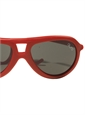 Children's Aviator Rubber Sunglass in Red