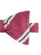 Mogador Striped Bow Tie in Azalea