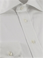 140s White Poplin Spread Collar