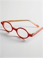 Kids Round Frames in Red with Orange