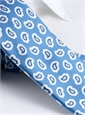 Silk Print Paisley Tie in Cobalt