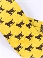 Wool Printed Golden Retriever Tie in Sun