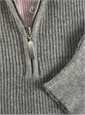 Cashmere Half Zip Sweater in Grey