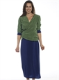 Marie Meunier Reversible Wrap Skirt in Blue and Green