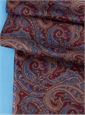 Ladies Silk Paisley Scarf in Cranberry