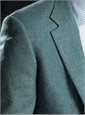 Sage and Teal Herringbone Cashmere Sport Coat