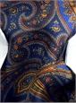 Silk Printed Paisley Ascot in Royal