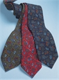 Wool Printed Paisley Tie in Fire