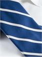 Silk Bar Stripe Tie in Navy