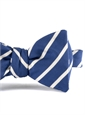 Mogador Bar Stripe Bow in Navy