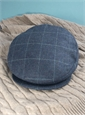 Wool Helmsley Motoring Cap in Navy with White Windowpane